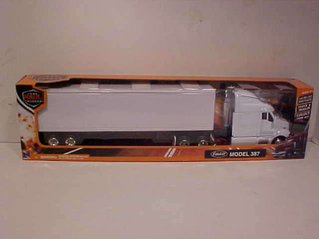 Kenworth W900 White Container Semi Truck